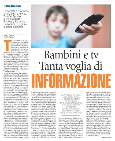 Bambini e Tv. Tanta voglia di informazione